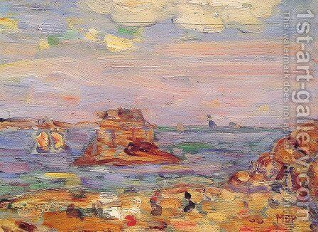 Brittany Coast by Maurice Brazil Prendergast - Reproduction Oil Painting