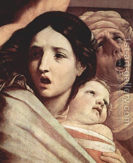 The Slaughter of the Innocents [detail #1] by Guido Reni - Reproduction Oil Painting