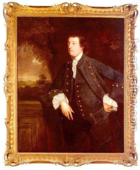Portrait Of Sir William Lowther, 3rd BT. (1727 - 1756) by Sir Joshua Reynolds - Reproduction Oil Painting