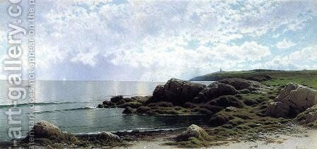 Low Tide at Swallow Tail Cove by Alfred Thompson Bricher - Reproduction Oil Painting