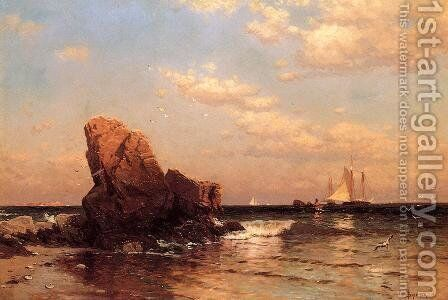 By the Shore by Alfred Thompson Bricher - Reproduction Oil Painting