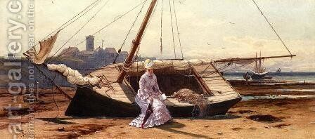 A Pensive Moment by Alfred Thompson Bricher - Reproduction Oil Painting