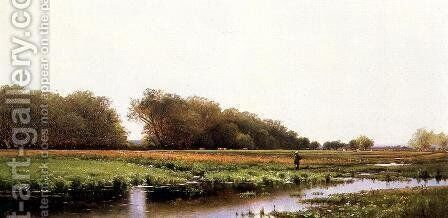 Hunter in the Meadows of Old Newburyport, Massachusetts by Alfred Thompson Bricher - Reproduction Oil Painting