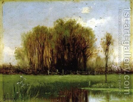Landscape with Water by Alfred Thompson Bricher - Reproduction Oil Painting
