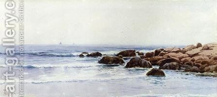 Sailboats off a Rocky Coast by Alfred Thompson Bricher - Reproduction Oil Painting