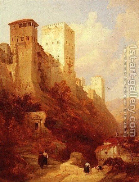Tower Of Comaris, Alhambra, Granada by David Roberts - Reproduction Oil Painting