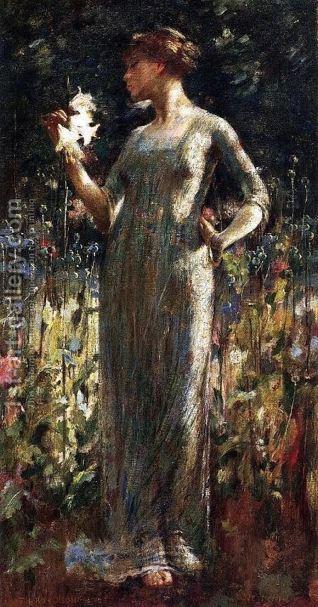 A King's Daughter by Theodore Robinson - Reproduction Oil Painting