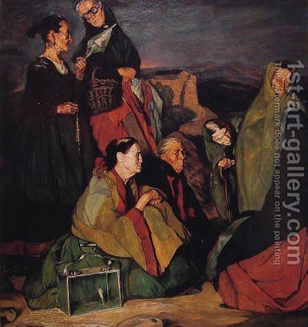 The Witches by E Lopez Rocha - Reproduction Oil Painting