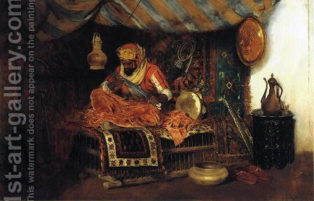 The Moorish Warrior by William Merritt Chase - Reproduction Oil Painting