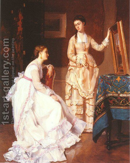 Elegant Connoisseurs by Albert Roosenboom - Reproduction Oil Painting