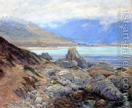 Path along the shore by Guy Rose - Reproduction Oil Painting