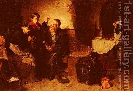 Depart De La Famille (Departure Of The Family) by Toby Edward Rosenthal - Reproduction Oil Painting
