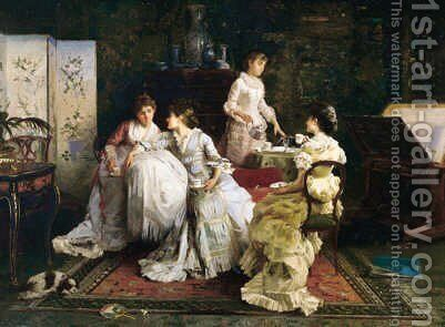 Afternoon Tea by Alexander Rossi - Reproduction Oil Painting