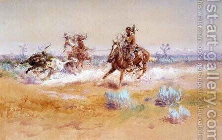 Mexico by Charles Marion Russell - Reproduction Oil Painting