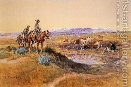 Worked Over by Charles Marion Russell - Reproduction Oil Painting