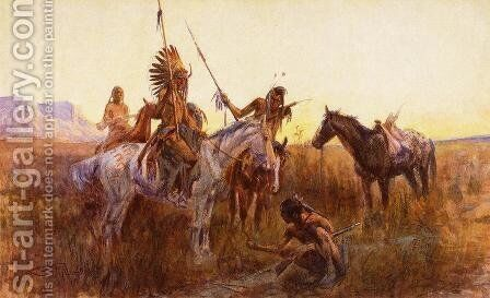 The Lost Trail by Charles Marion Russell - Reproduction Oil Painting