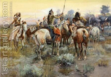 The Truce by Charles Marion Russell - Reproduction Oil Painting