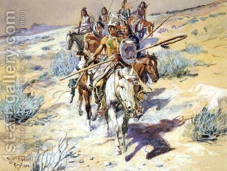 Return of the Warriors by Charles Marion Russell - Reproduction Oil Painting