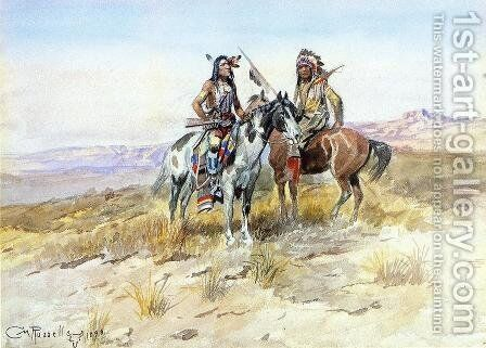 On the Prowl by Charles Marion Russell - Reproduction Oil Painting