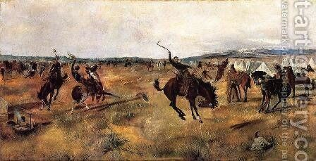 Breaking Camp by Charles Marion Russell - Reproduction Oil Painting