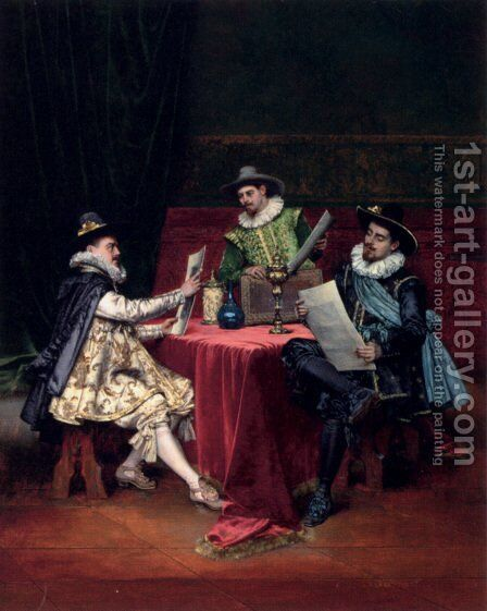 The Collectors by Adolphe Alexandre Lesrel - Reproduction Oil Painting