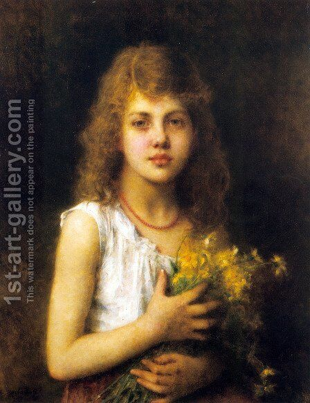 Spring Flowers by Alexei Alexeivich Harlamoff - Reproduction Oil Painting