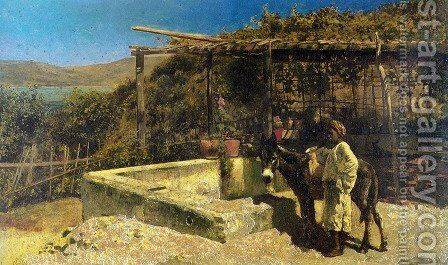 By The Well by Edwin Lord Weeks - Reproduction Oil Painting