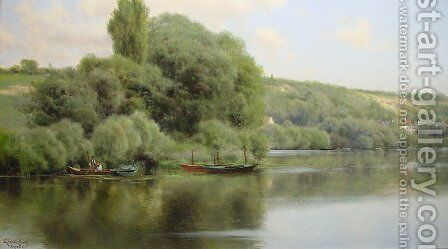 Calm Waters at Chaponval by Emilio Sanchez-Perrier - Reproduction Oil Painting