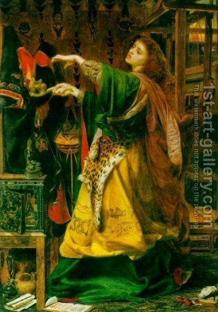 Morgana le Fay by Anthony Frederick Sandys - Reproduction Oil Painting