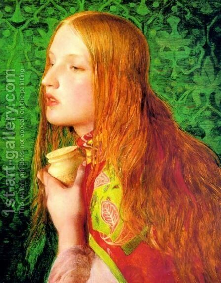 Mary Magdalene by Anthony Frederick Sandys - Reproduction Oil Painting