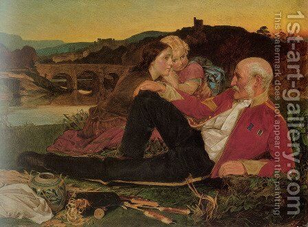 Autumn by Anthony Frederick Sandys - Reproduction Oil Painting