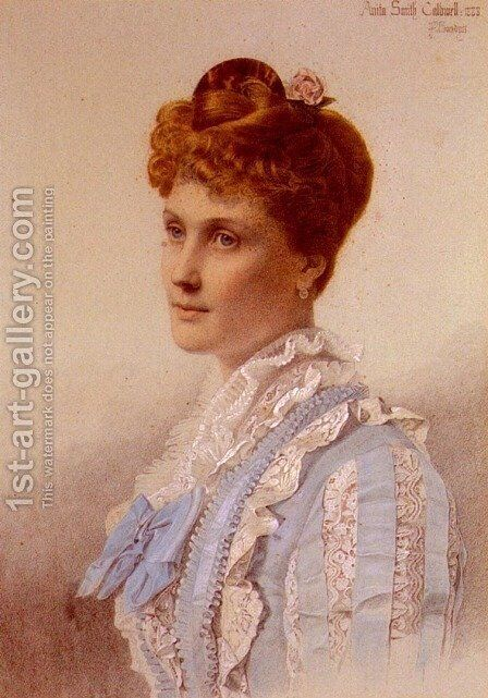 Portrait Of Anita Smith by Anthony Frederick Sandys - Reproduction Oil Painting