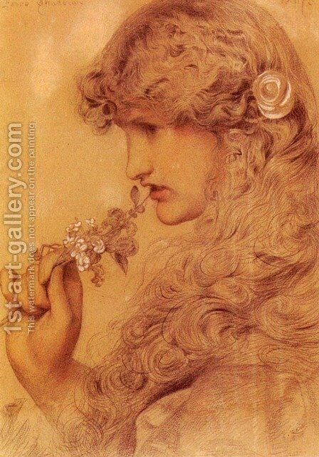 Love's Shadow by Anthony Frederick Sandys - Reproduction Oil Painting