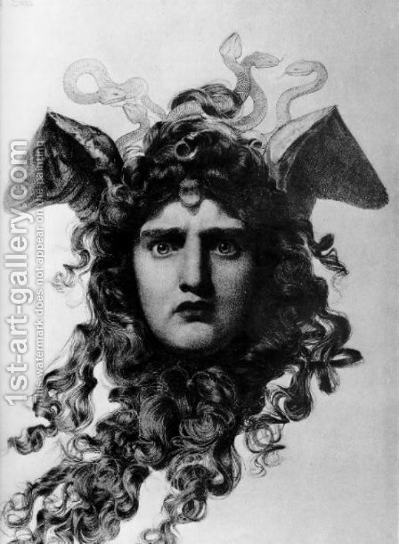 Medusa by Anthony Frederick Sandys - Reproduction Oil Painting
