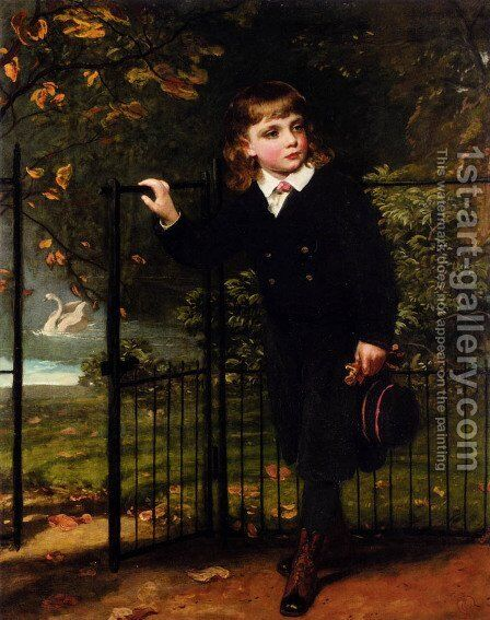 In The Park by James Sant - Reproduction Oil Painting