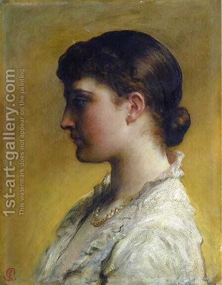 Portrait Of Lillie Langtry by James Sant - Reproduction Oil Painting