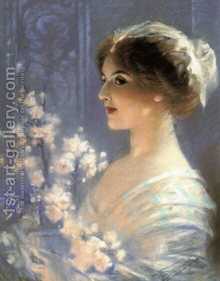 Portrait of a Lady by Hans Schlimarski - Reproduction Oil Painting