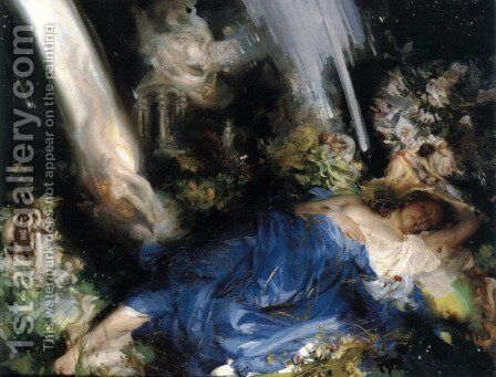 Night Piece to Julia by Charles Sims - Reproduction Oil Painting