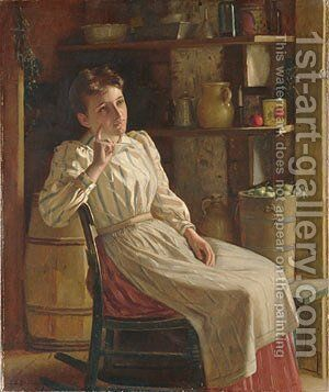 Meditation by John George Brown - Reproduction Oil Painting