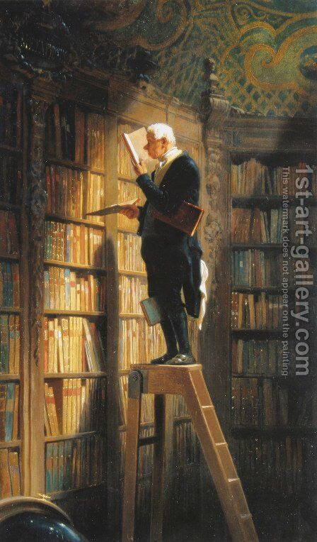 The Bookworm by Carl Spitzweg - Reproduction Oil Painting