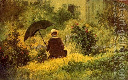 The Botanist by Carl Spitzweg - Reproduction Oil Painting