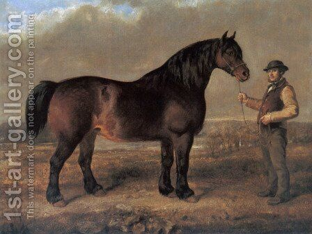 Prize Clydesdale Mare by Gourlay Steell - Reproduction Oil Painting