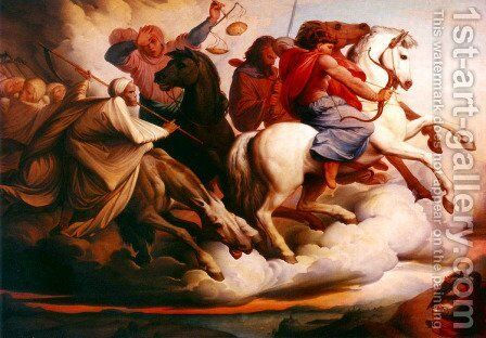 Four Horsemen of the Apocalypse by Edward Jakob Von Steinle - Reproduction Oil Painting