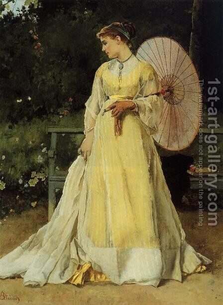 In the Country by Alfred Stevens - Reproduction Oil Painting