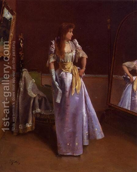 Ready for the Ball by Alfred Stevens - Reproduction Oil Painting