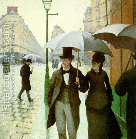 Paris Street by Gustave Caillebotte - Reproduction Oil Painting
