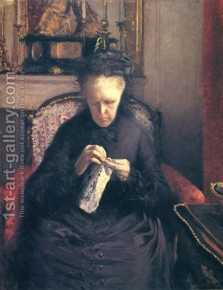 Portait of Madame Martial Caillebote (the artist's mother) by Gustave Caillebotte - Reproduction Oil Painting