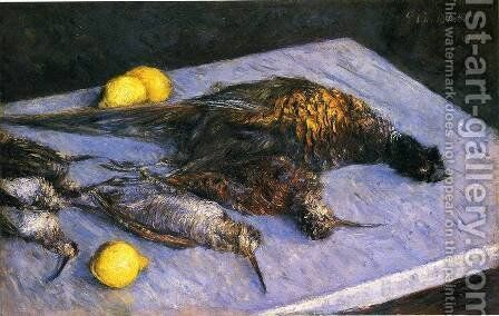 Game Birds And Lemons by Gustave Caillebotte - Reproduction Oil Painting