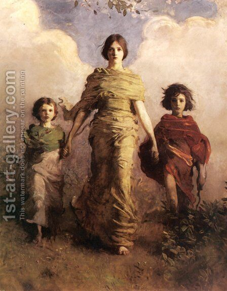 The Virgin by Abbott Handerson Thayer - Reproduction Oil Painting