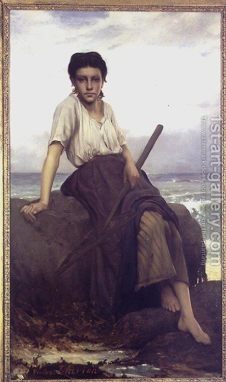 Shrimp Girl by Charles Victor Thirion - Reproduction Oil Painting